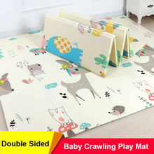 Foldable Baby Play Mat for Kids Educational XPE Puzzle Mat Children's Carpet Nursery Climbing Pad Rug Activities Games Toys