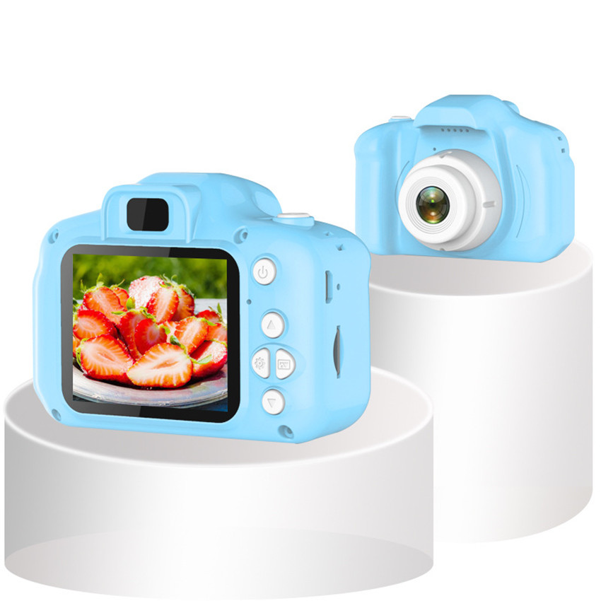 Kids Camera Waterproof 1080P HD Screen Camera Video Toy 2000W Children's Cute Camera With 16GB TF Card Birthday New Year Gifts