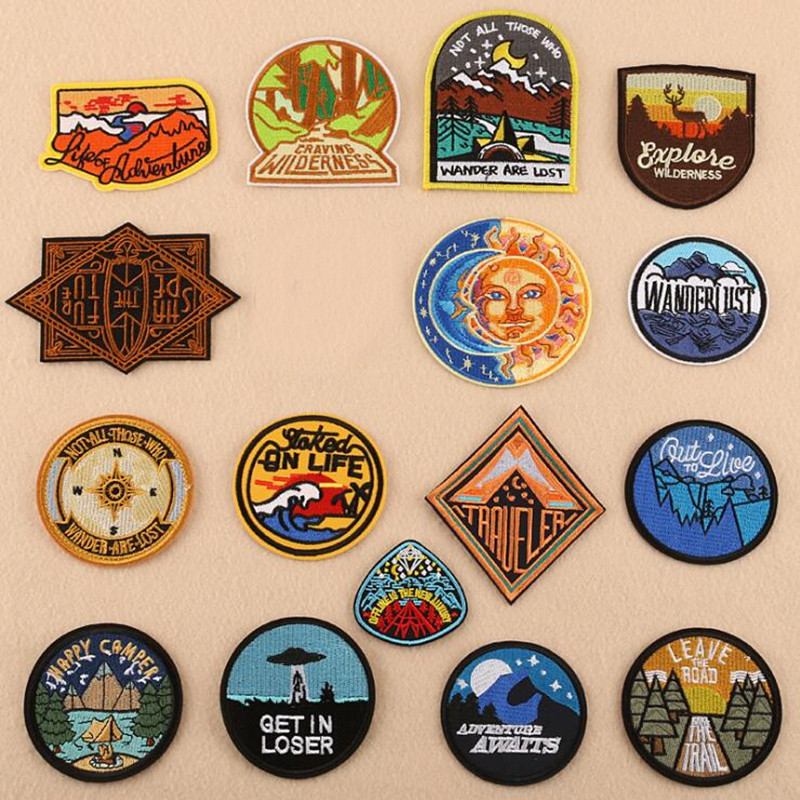 4004 Camping Outdoor Loser Badge Repair Patch Embroidered Iron On Patches For Clothing Close Shoes Bags Badges Embroidery DIY