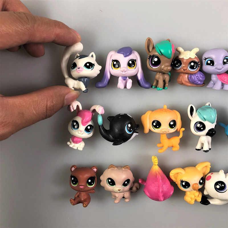 20 قطعة/الوحدة الحيوانات lps لعبة الدائمة قصيرة الشعر القط الأصلي هريرة أجش جرو الكلب الثعلب اصغر الحيوان جمع الشحن مجانا