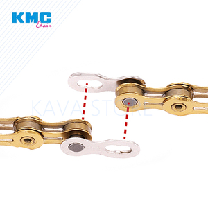 Image 4 - 2 Pairs KMC  Bicycle Chain Missing Link 6/7/8/9/10/11/12 Speed Bicycles Reusable Chain Magic Clasp Silver Gold