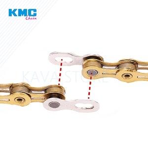 Image 4 - 2 pares de cadenas de bicicleta KMC con eslabones faltantes 6/7/8/9/10/11/12 velocidades, cadena reutilizable, cierre mágico de plata y oro