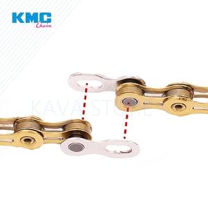 Image 4 - 2 pary KMC łańcuch rowerowy brakujące ogniwo 6/7/8/9/10/11/12 prędkość rowery wielokrotnego użytku łańcuch magiczne zapięcie Silver Gold