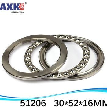 10pcs free shipping Axial Ball Thrust Bearing 51206 30*52*16 mm Plane thrust ball bearing