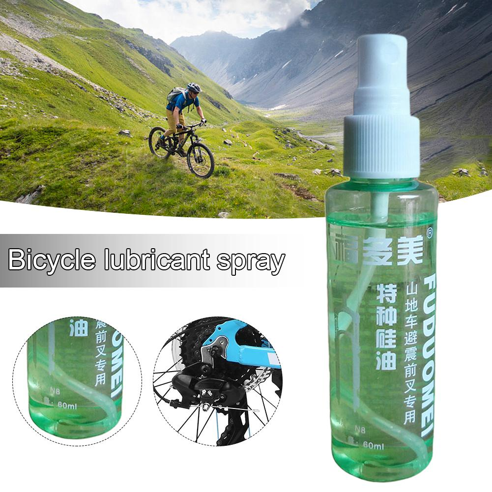 60ML Bicycle Lubricant Spray Anti-rust Bicycle Chain Lube Maintenance Oil Bicycle Repair Tools Fork Oil Lube Chain