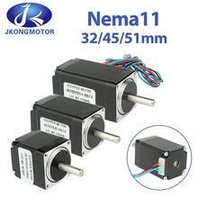 Jkongmotor Nema 11 28-motor Hybrid Schrittmotor 1,8 Grad 0,67 EINE 6N.cm 9,5 N.cm 12N.cm 2-Phase 4 Drähte 32/45/51mm Für CNC Router