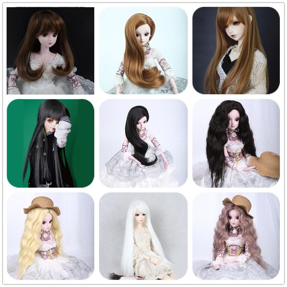 Allaosify 1/3 1/4 BJD Wig Black Hair For BJD/SD Doll Accessories