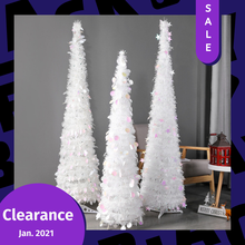ADOREHOUSE Large Christmas Tree 1.2/1.5M PET Round Flash Sequins Ornaments Removable New Year Tree Wedding Decoration Xmas Gift