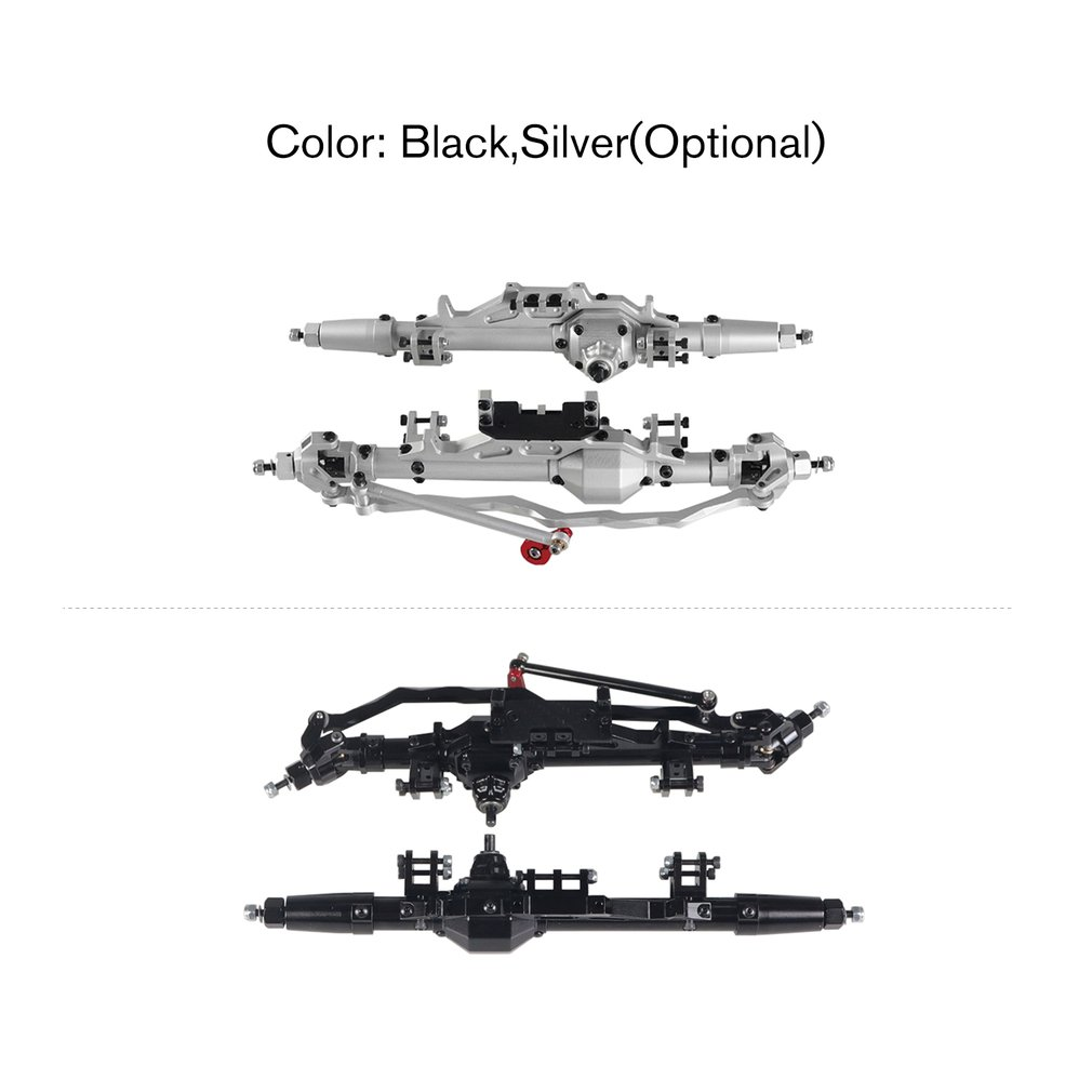 Aluminum Alloy Front & Rear Axle Kit for <font><b>1/10</b></font> Climbing Car Axial RR10 WRAITH 90018 90045 RR10 90048 90053 <font><b>Accessory</b></font> image