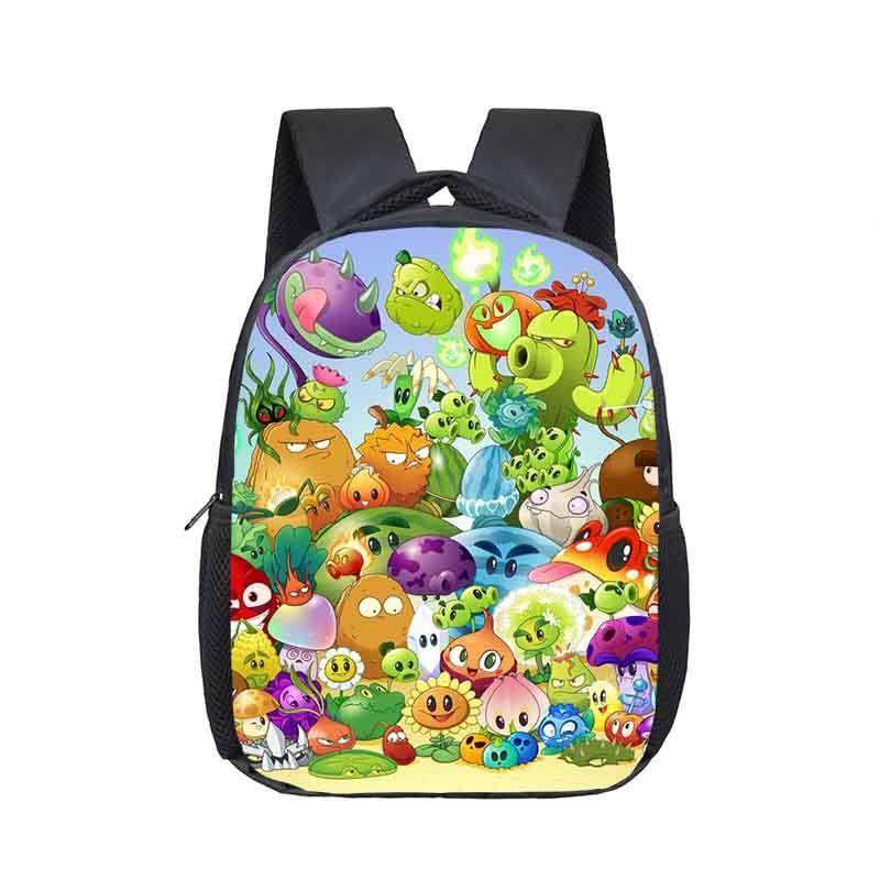 Plants vs Zombies Backpack Garden Warfare School Bookbag Shoulder Kids Bag