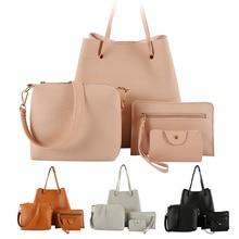 4pcs Woman Bag Set Fashion Female Purse and Handbag Four-Piece Shoulder
