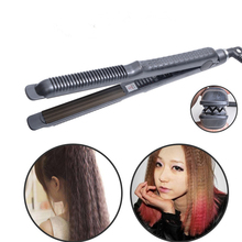 Corrugation Flat Iron Hair Curler Curling Irons Professional Curly Iron Tongs