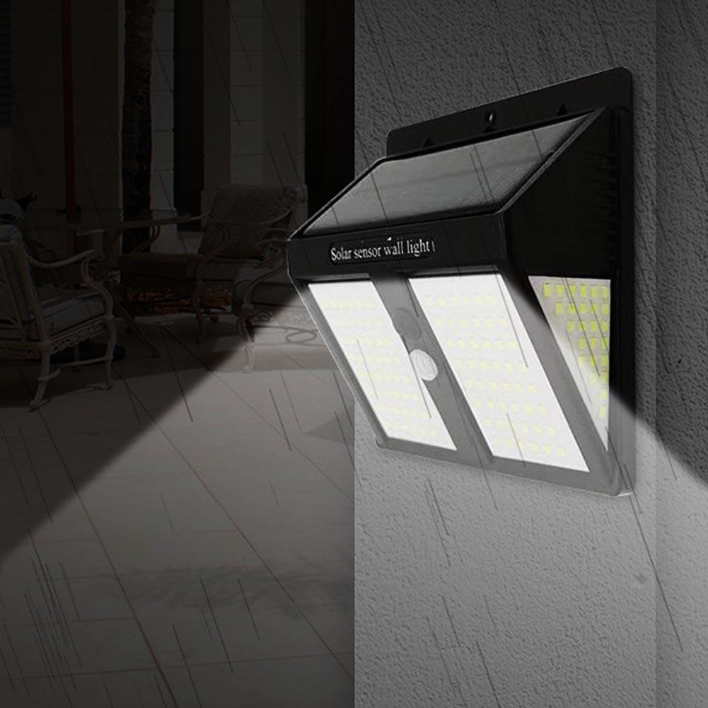 Outdoor Waterproof Triangleed Solar 250 LED Wall Lamp Motion Sensor Exterior Light