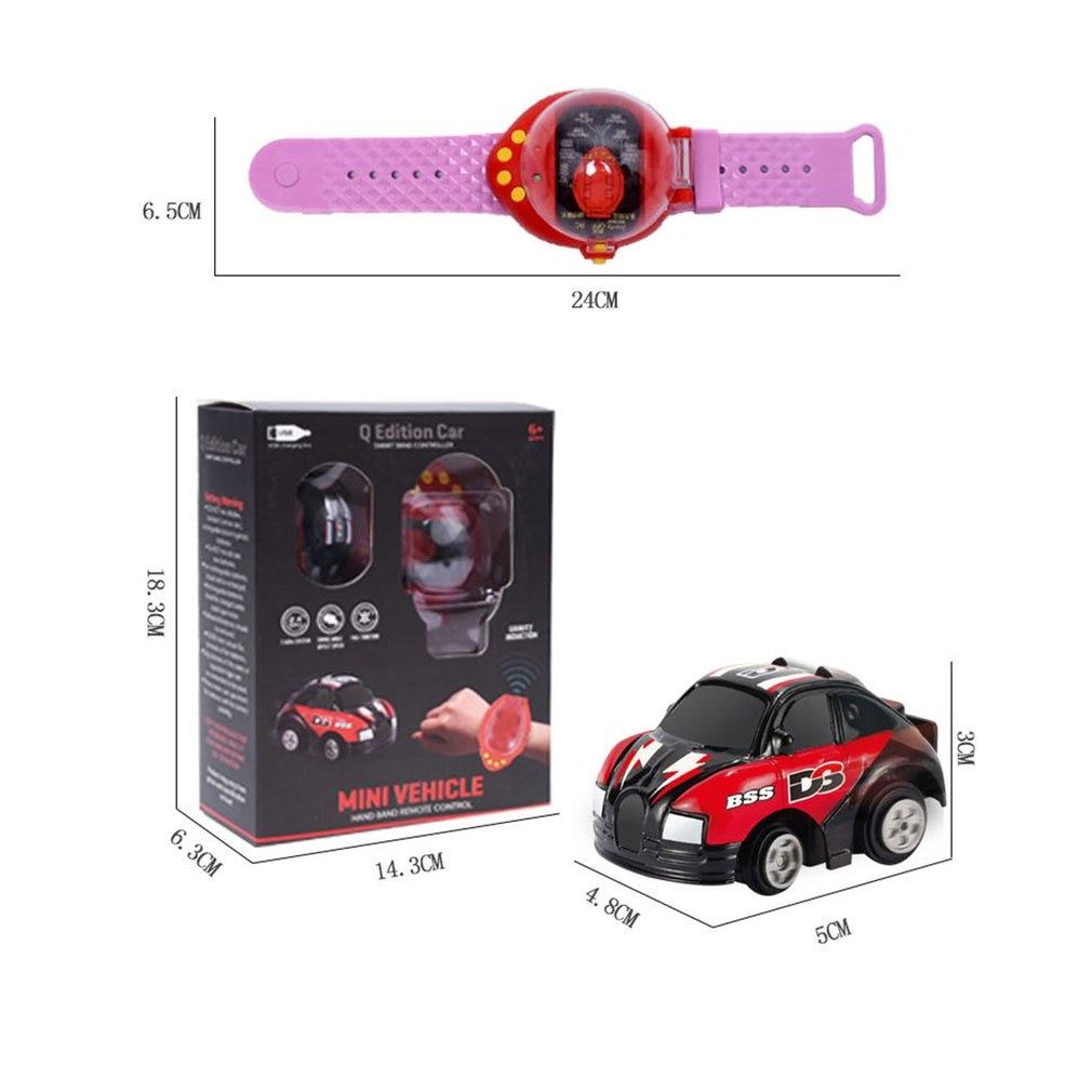Мини Мультяшные часы автомобиль с дистанционным управлением