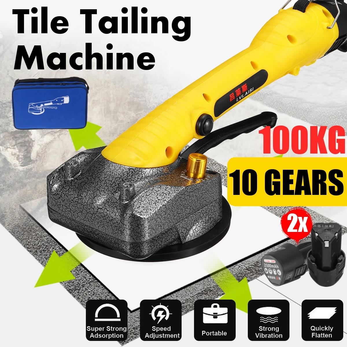 20W Tiling Tiles Machine can suck 20KG Tiles Vibrator Suction Cup  Adjustable Protable Automatic Floor Vibrator Leveling Tool