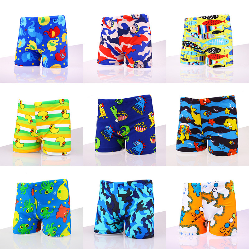 Cartoon CHILDREN'S Swimming Trunks Boxer Baby Swimming Trunks BOY'S Plus-sized Big Kid Hot Springs Bathing Suit Optional Swimmin