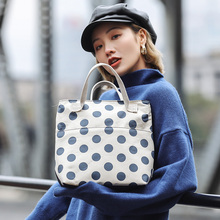Casual Large Capacity Handbag Women Fashion Dot Print Totes Chic Designer Canvas Ladies Handbags Cbig Purses Shopping Bag