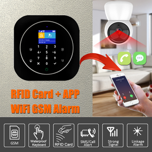 Image 2 - Home Alarm System Wifi GSM Alarm Intercom Remote Control Autodial 433MHz Detectors IOS Android Tuya APP Control Touch Keyboard