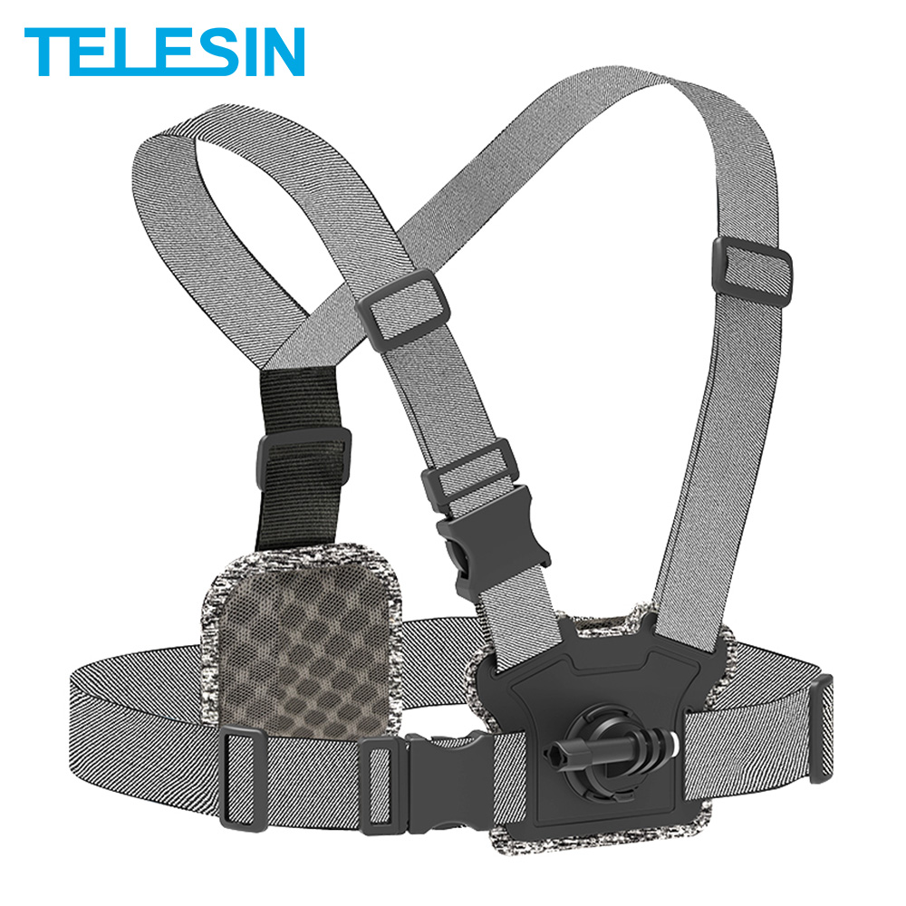 TELESIN Chest Strap Front Rear Double Mount Strong Elasticity for GoPro for XiaoYi Osmo Action Original Camera Accessories