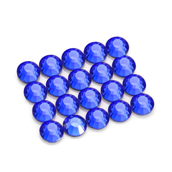 Glass Hotfix Rhinestone Dark Blue Round Flatback Crystal Rhinestones Nail Art Stones Stickers for Clothing Hotfix Strass Diamond