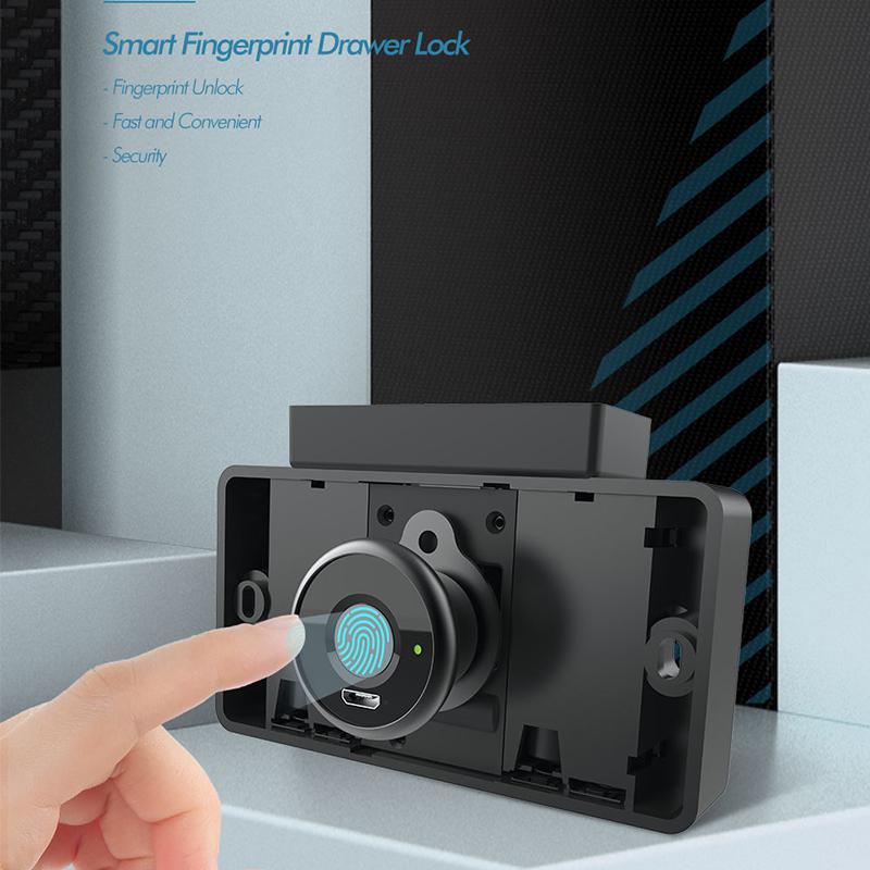Smart Cabinet Fingerprint Door Lock Smart Fingerprint Cabinet Drawer Digital Safety Lock Usb Charging Cerradura Inteligente