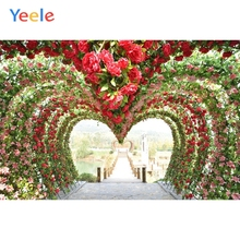 Yeele Wedding Ceremony Photocall Flower Heart Way Photography Backdrops Personalized Photographic Backgrounds For Photo Studio