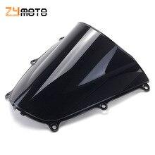 Per 2005 - 2006 Honda CBR600RR CBR 600 RR F5 05 06 parabrezza nero parabrezza doppia bolla moto