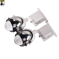 Sanvi v2 2.5inch Auto Bi LED Projector Lens Headlight 35W 5500K Car LED Projector Headlight H4 H7 9005 9006 Car Motorcyle Light