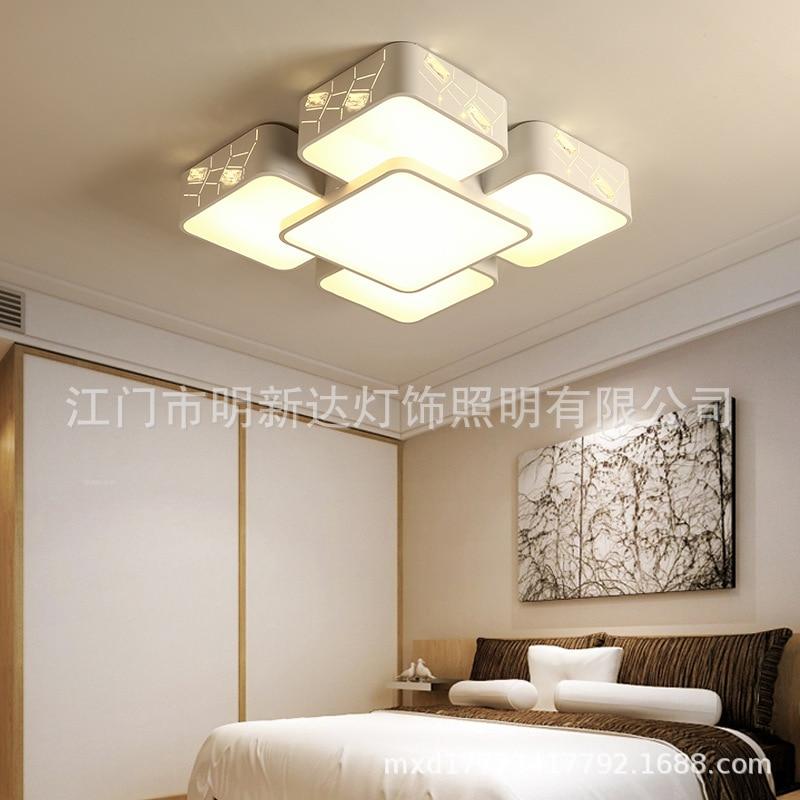 Rectangular Living Room Lights Modern Minimalist Ceiling Fashion LED Glorious Bedroom Lamp Creative Cool Lamps Restaurant