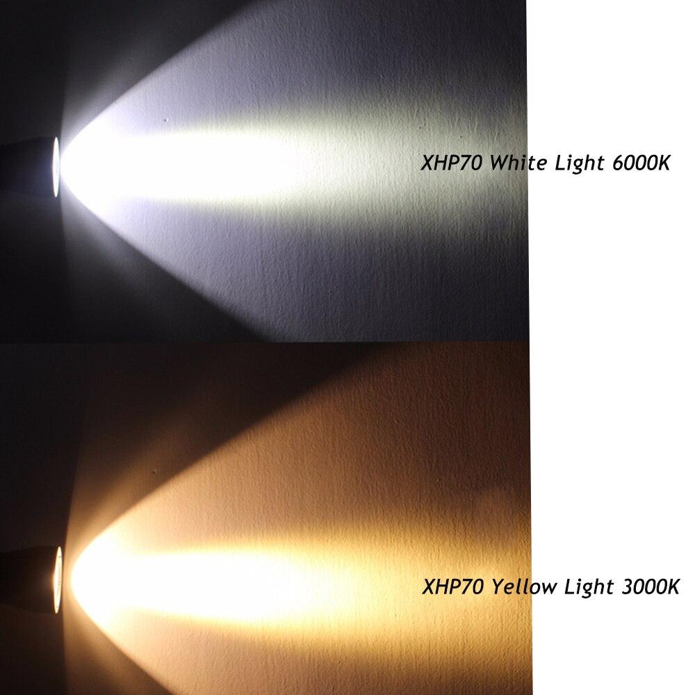 Image 4 - Linterna LED de buceo más potente XHP70.2, linterna submarina de 200 m, linterna impermeable XHP50 IPX8, lámpara de buceo XHP70-in Linternas y antorchas from Luces e iluminación on AliExpress