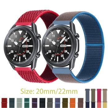 22mm bracelet de montre pour engrenage s3 frontière bracelet galaxie montre 46mm 42mm actif 3 2 44mm 40mm Nylon huawei montre gt2e/2 bracelet 20mm