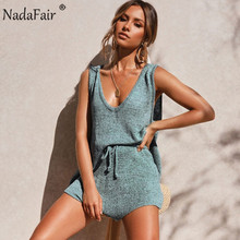 Nadafair Summer Two Piece Set Women 2020 New Solid Casual Outfits Summer Beach T