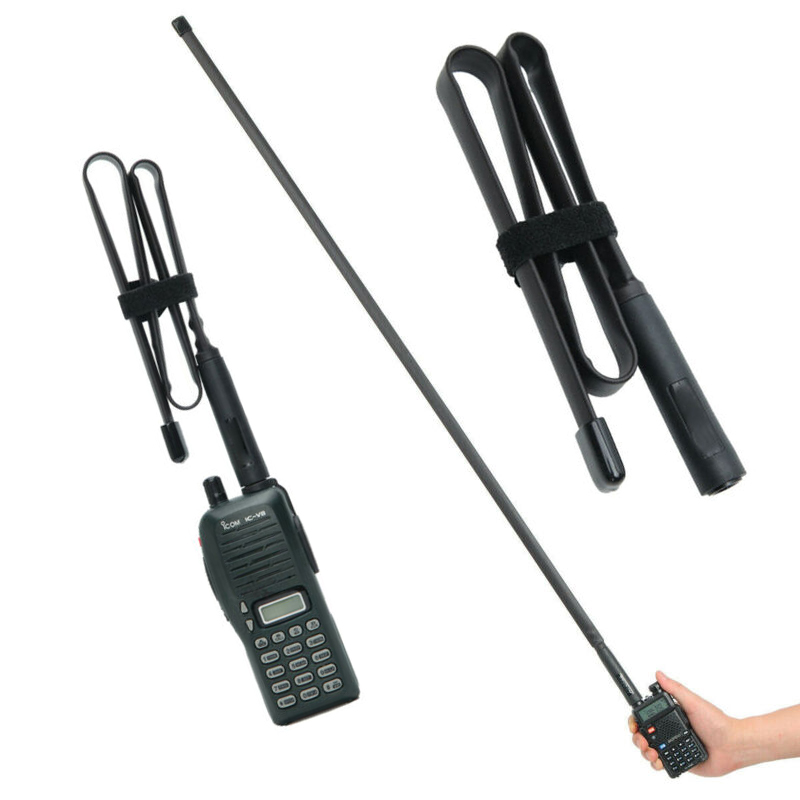 For ABBREE SMA-Female Dual Band VHF UHF 144/430Mhz Foldable Tactical Antenna For Baofeng UV-5R UV-82 BF-888S Walkie Talkie UV 5R