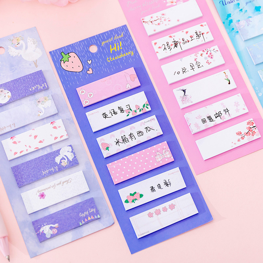 120 Sheets Creative Kawaii Memo Pad Note Sticky Paper Stationery Student Planner Index Stickers Notepads Office School Supplies