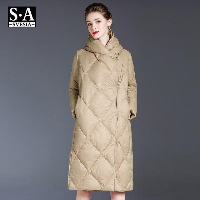 Blouson en duvet pour femme, blouson femme, doudoune légère, Ultra longue et chaude, Parka à capuche, vêtements d'hiver 2020 4
