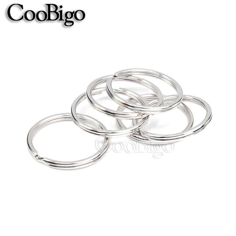 5 sztuk posrebrzane 15 rozmiary wybrać otwór breloki brelok do kluczy podział O pierścienie uszczelniające rod okrągły Split brelok akcesoria 10mm ~ 57mm