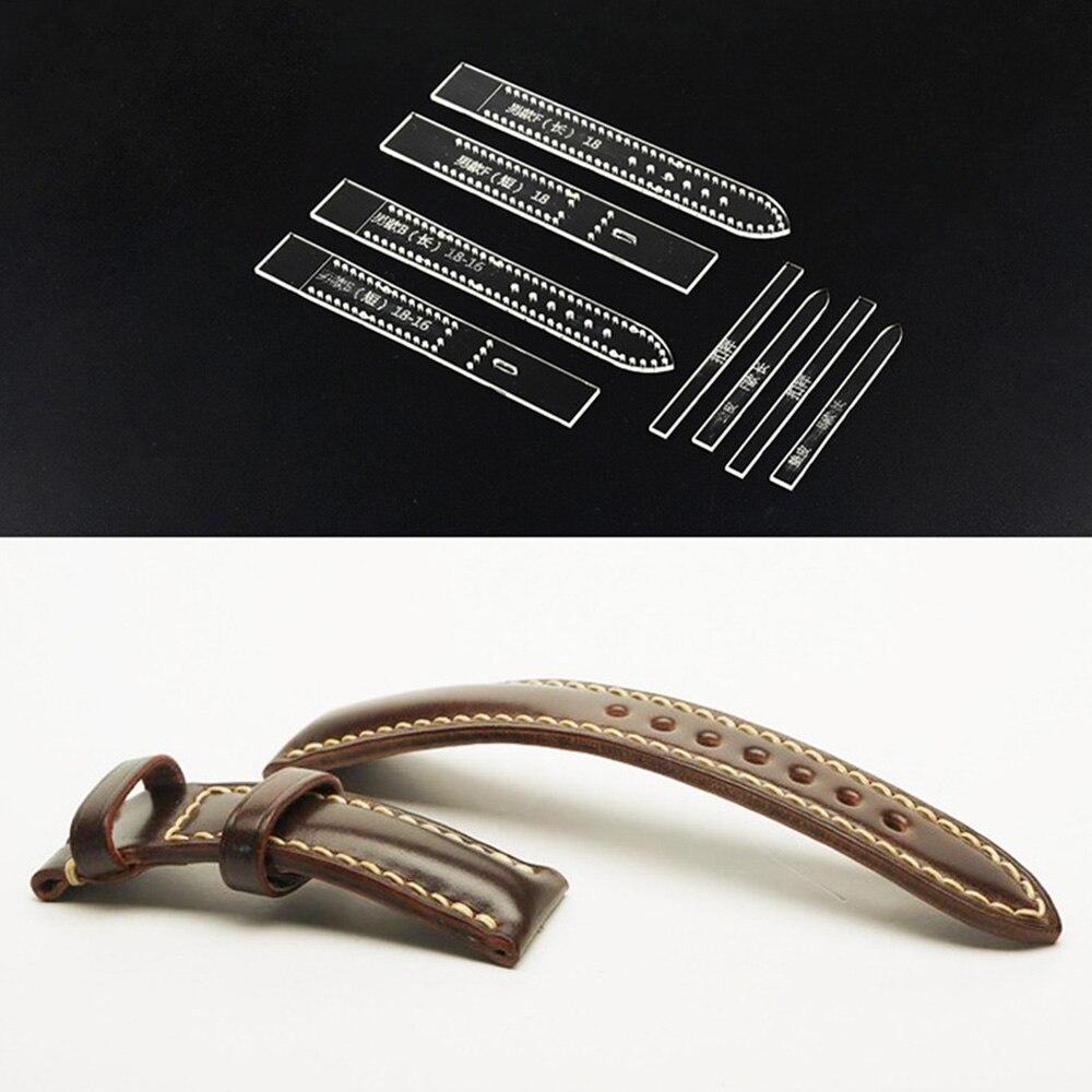 Transparent acrylique bracelet de montre bracelet pochoir modèle artisanat cuir bricolage outil maison fournitures de travaux manuels poignet bracelet de montre moule pour hommes