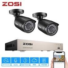 ZOSI 4CH/8CH DVR Sistema A CIRCUITO CHIUSO con 2CH 2PCS 2.0 MP Telecamere di Sicurezza Esterna IR 1080N HDMI CCTV DVR Video di Sorveglianza Kit