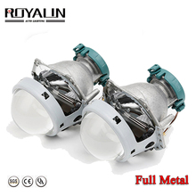 ROYALIN Metal For Hella 3R G5 Bi Xenon Headlights Lens D2S Lights Projector Universal Car Lamp D1S D2H D3S D4S Bulbs Retrofit free shipping iphcar china car accessories universal square 3 0 inch projector lens without d2h xenon blub and ballast