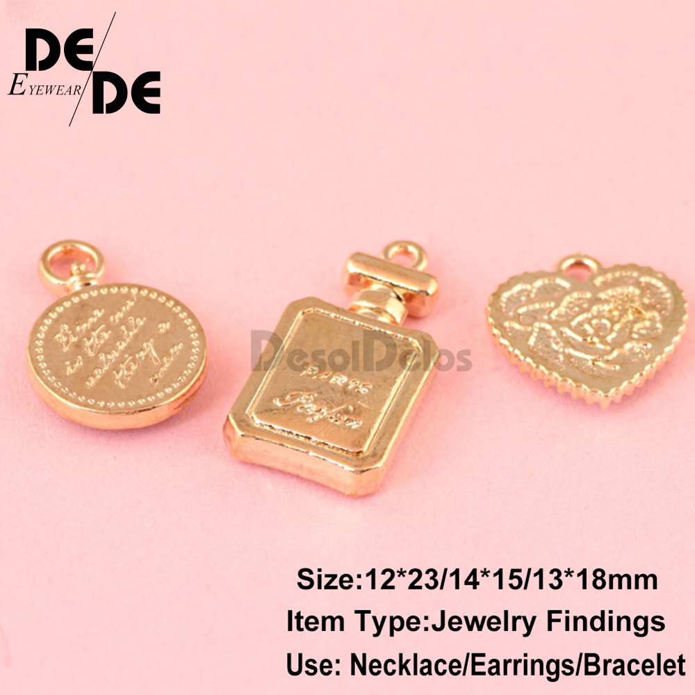 10pcs lot High Quality Fashion Enamels Charms Gift Perfume Bottle Alloy Pendant Bracelet Necklace Jewelry Accessories 2019 in Charms from Jewelry Accessories