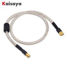 Verzilverd Hifi usb Kabel Hoge Kwaliteit 6N OCC Type A-B/A-A/A-MINI DAC Data USB Kabel t1190
