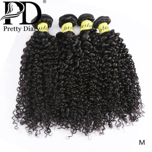 Indian Kinky Curly Hair 1/3/4 Bundles Human Hair Weave Water Wave Natural Color Remy Hair Weave 28 30 Inch Curly Hair Extension
