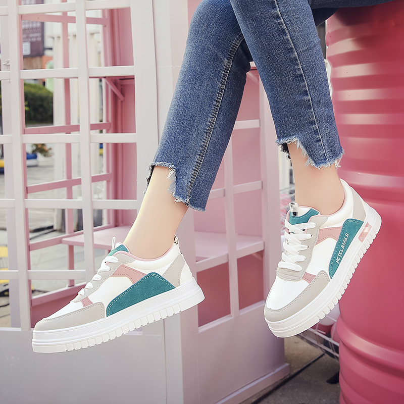 Mixed Color Cool Women Casual Leisure Platform Shoes Flat Thick Bottom 2020 New High Quality Spring Summer Sneakers