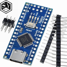 Type-C / Micro USB CH340 Nano 3,0 ATmega328P плата контроллера совместима с Arduino Nano CH340 USB драйвер Nano V3.0 ATmega328