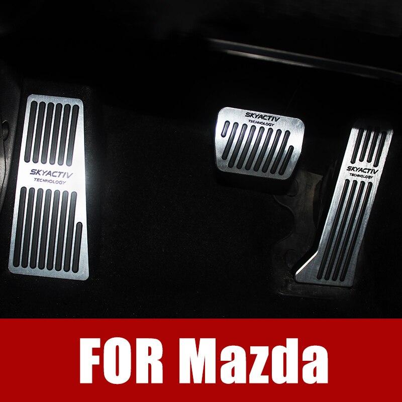 Apoio Para Os Pés Do Pedal Do Acelerador Embreagem do Freio do carro Pedal Tampa Placa Para Mazda 2 3 6 Demio CX 5 CX5 CX3 CX9 ATENZA Axela 2017 2018 2019