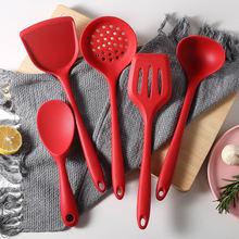Силиконовая кухонная посуда лопатка ложка для супа антипригарная