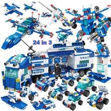 Swat série blocos de construção compatível com cidade caminhão da polícia swat carro ww2 miltary crianças brinquedo tijolos brinquedos