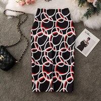 נשים חצאיות קיץ הדפסת פרחי עיפרון חצאית מזדמן חצאיות באורך הברך בתוספת גודל Faldas Mujer Moda נהיגה לראשונה חצאית Femme-בחצאיות מתוך בגדי נשים באתר