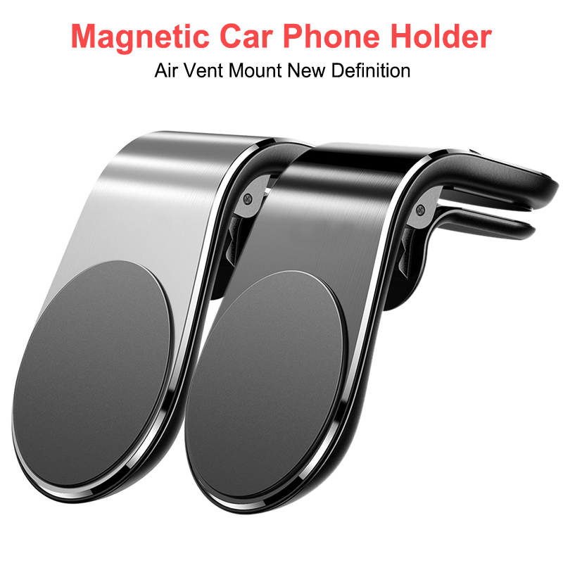 Mini Air Vent Clip Mount Magnet Mobile Stand For IPhone XS Max XR X Metal Magnetic Car Phone Holder For  Xiaomi Smartphones
