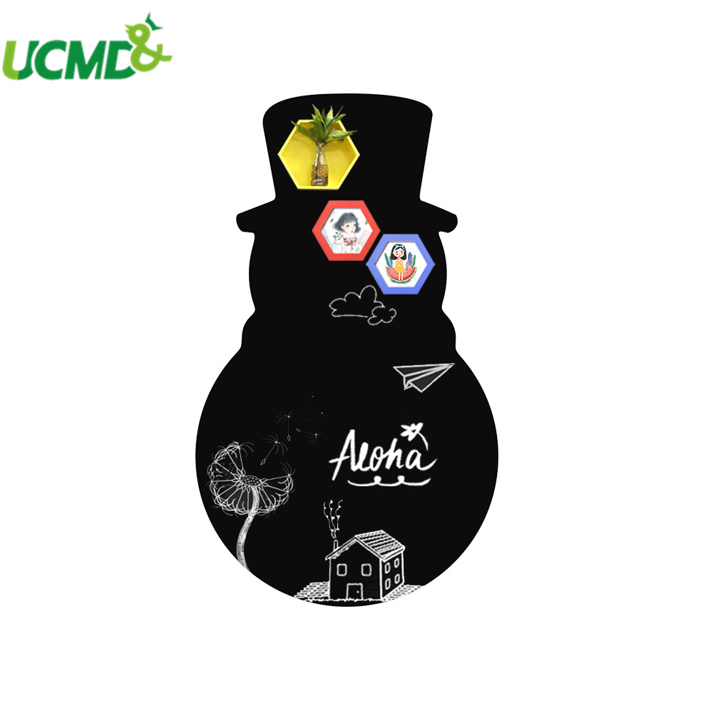 Snowman Shape Drawing Writing Painting Graffiti Blackboard Whiteboard Art Wall Stickers Wallpaper Decor For Home School Office